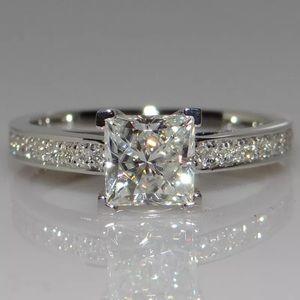 Jewelry - Princess Cut 925 Silver Women Wedding Band Ring